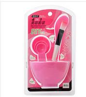 Plastic DIY Facial Mask bowl Beauty Tools 4 PCS/SET  5 Color