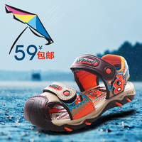 Children shoes Sandals foothold toe cap Sunray Protect sandals waterproof summer Youth Kids boys beach sandals blue brown