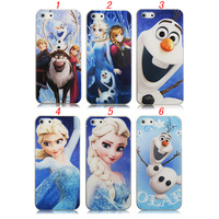 Frozen Princess Elsa Anna Lovely Snow Man Olaf Hard Plastic Case Cover For iPhone 4 4s 5 5g 5s 5c