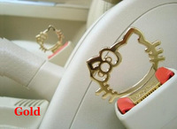 Automotive supplies cartoon cute hellokitty jewelry clasp safety Shoulders car automotive supplies decorative buckle