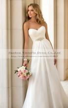 Vestidos De Novia Sexy Chiffon Beach Wedding Dress Vintage Boho Cheap Wedding Dress 2014 Robe De Mariage Bridal Gown Casamento(China (Mainland))