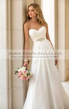 Vestidos Novia сексуальная шифон пляж свадебное платье винтаж Boho дешевые свадебное платье 2014 мантия-де-mariage свадебное платье Casamento