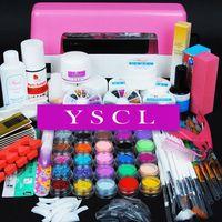 2014 9W uv pink dryer lamp nail tools 30 colors Acrylic Powders gel tips acrylic kit UV KIT Brush tips Nail Art tools Kits 001