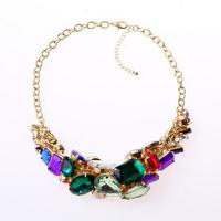 Brand new pendants neckalce vintage Fashion color shining Rhinestone necklace Shourouk necklace