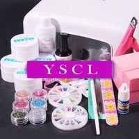 2014 new 36W UV White Lamp Dryer LIGHT uv gel Manicure glitter TIPS nail glue buffer Block nail tools kit electric nail care 025