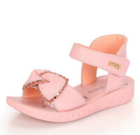 New Arrival  Large size for children  shoes Girls Sandals Princess Shoes  bow  girl  shoes