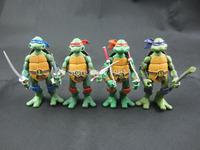 2014 New High Quality 12cm TMNT Teenage Mutant Ninja Turtles PVC Action Figure Model Toys 4pcs/set