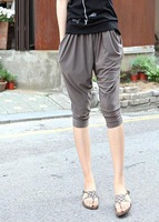 2014 candy-colored style offers summer ice Si Halun casual pants big yards in seven Korean women were thin pants