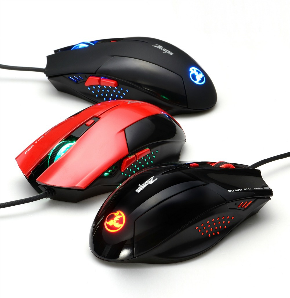 2400 DPI 6 Button LED Optical USB Wired Gaming Mouse Mice computer mouse For razer dota2(China (Mainland))