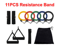 So hot 11Pcs/Set Fitness Resistance Bands Exercise Tubes Practical Elastic Training Rope Yoga Pull Rope Pilates Workout Cordages