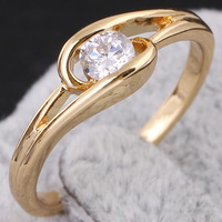 Chic 18K Gold White Gold Plated Ring Artificial Gemstone Jewelry   638321-638324
