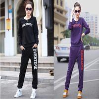 Plus Size Women Casual Sports Suit Pullovers Hoodies in Sportswear for Women Long Sleeve Tracksuit Letter Sweatshirt Twinset