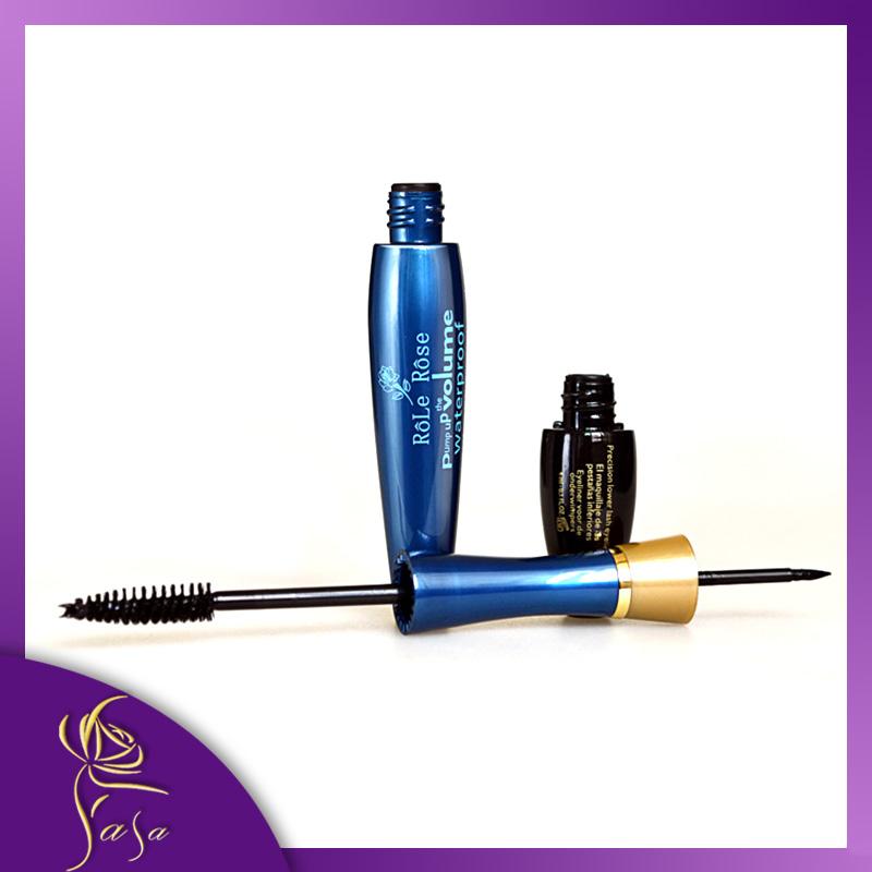 2014 Classic Double Extension Beauty Mascara Brand Eyelash Mascara Plus Liquid With Eye Liner Lashs Waterproof Cosmetics(China (Mainland))