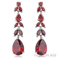 2014 New design Swiss Zircon Dangle Earrings exaggerated Austrian Crystal women's Drop earrings Platinum plated earrings(FE-106)