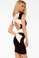 2014 Hot sale ! Fashion Sexy Cross Bandage Bodycon Dress for banquets party/Formal/Summer/ Spring/Autumn women dresses B4468