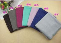 2014 new design women printe glitter cotton shawls flash viscose plain pure color wrap long muslim wrap scarves/scarf 10pcs/lot