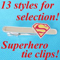 Superhero Super Hero Tie Clip Tie Bar Tie Pin 3 Pieces Wholesale Free Shipping Promotion