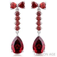 2014 New design Swiss Zircon Dangle Earrings exaggerated Austrian Crystal women's Drop earrings Platinum plated earrings(FE-107)