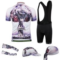 New 2014 Mushroom cloud Cycling Jersey cycling wear cycling clothing Bib shorts men Summer Breathable quick dry