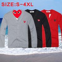 Men Women Cardigan sweater 2014 Best Selling Big Size S-4XL Rei Kawakubo Cardigan jacket V-Neck High quality star models sweater