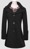 Windbreaker Jacket 2014 New  Women Turn-Down Collar Formal Jacket Button Ribbons Pockets Sequins Wrinkle Windbreaker Jacket