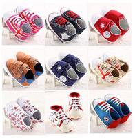 Hot Wholesale  2014  Soft Shoes For Boys Five Star Baby First Walkers Brand  Shoes 9 Kinds For Choose
