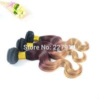 Cheapest Brazilian Hair 100% Natural Virgin Body Wave Hair Three Tone Ombre Hair Extension 3 Pcs Lot