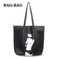 2014 NEW Women GENUINE LEATHER Large Sex girl Prints Set Shopper Handbag shoulder Shopping bag 100% cowhide Fashion girl B372