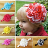 Retail 1Pcs Infant girls Flower Headbands baby headband girl's headwear Newborn toddler hair band baby girl's hair accessories