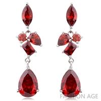 2014 New design Swiss Zircon Dangle Earrings exaggerated Austrian Crystal women's Drop earrings Platinum plated earrings(FE-110)