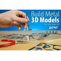 Free shipping 3D DIY Eiffel Tower Model Jigsaw Metal Puzzle Assembled Intellegent Kids
