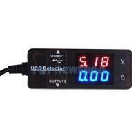 T2N2 YB26VA USB Detector Dual Display Voltmeter And Ammeter Red And Blue Display