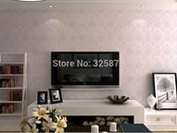 3D background wallpaper European bedroom living room TV wall wallpaper three-dimensional Non-woven embossed  wallpaper Modern