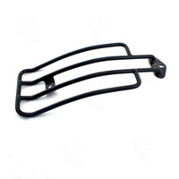 Black Motorcycle Raider Luggage Rack for Stock Solo Seat Harley Sportster XL 85-03 #3639