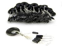 100 Pieces 6.5mm x 1.5mm Black Cylinder Floating Floater Beads Fishing Bobber Stopper