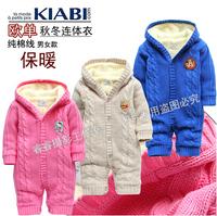 Promotion fashion designer kids Female children's clothing romper suit ha climb clothes thermal wear cotton thread jumpsuit