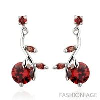 2014 New design Swiss Zircon Dangle Earrings exaggerated Austrian Crystal women's Drop earrings Platinum plated earrings(FE-116)