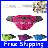 2014 new fashion[4 Colours] CASUAL SPORT NYLON BUM BAG   belt bag   waist pack   cycle pack   money pouch