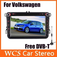 For Volkswagen Skoda Series,2 din 8'' inch800MHz CPU Car DVD Player Styling,Audio Radio,With GPS,AM/FM,Bluetooth +Free DVB-T