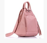 Wave packet sweet temperament Korean female bag backpack female fashion casual shoulder bag multifunction shoulder