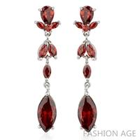 2014 New design Swiss Zircon Dangle Earrings exaggerated Austrian Crystal women's Drop earrings Platinum plated earrings(FE-119)