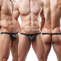 Fashion Sexy Lingerie JOCKSTRAP ENHANCE POUCH SEXY MEN'S Thong G-String Underwear Briefs T-back Free Shipping S M L
