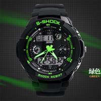 2014 Hot Sale Skmei 0931 Men Sports Military Watches Male Brand boys Fashion Casual Wristwatch Men's Digital Man Watch (Green)