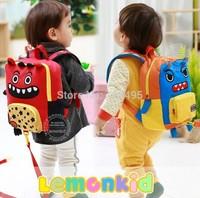 2014 3D lemonkid Cute cartoon monster trend backpack, children lost package