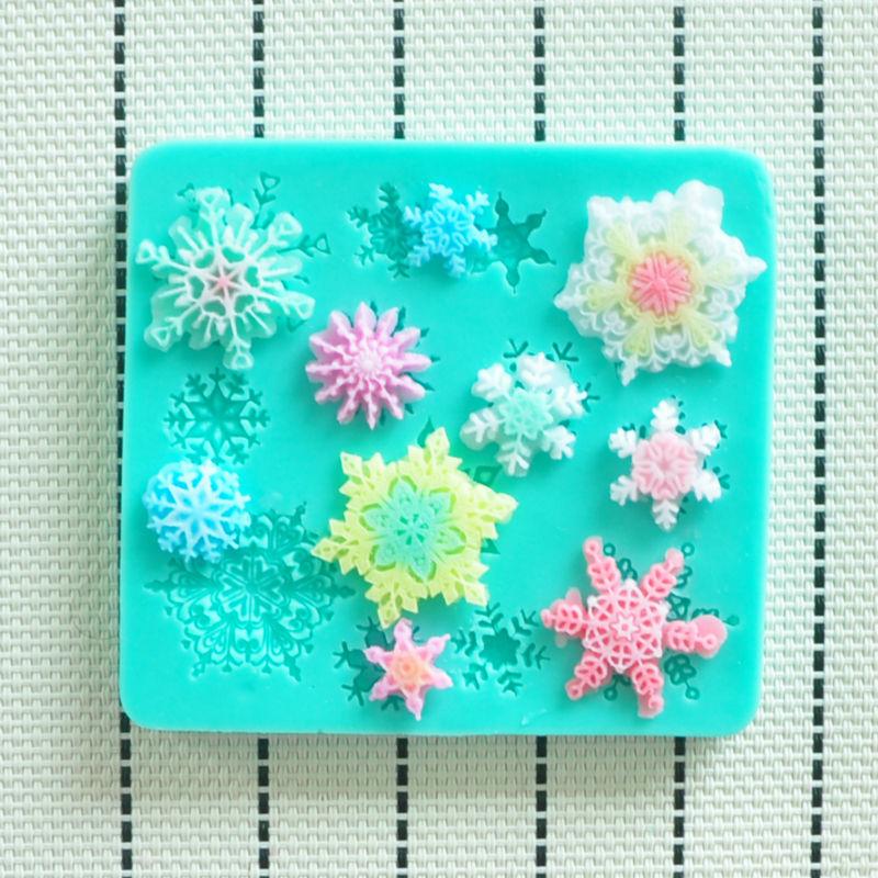 HOT Elegant high quality snow silicone mold,Fondant Cake Decorating Tools,Silicone Soap Mold,Silicone Cake Mold(China (Mainland))