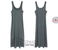Yarn-dyed irregular stripe knitting dress dress