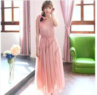 Spring 2014 plus size clothing chiffon one-piece dress full dress bohemia expansion bottom sheds beach dress