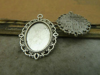 Min. order is $8(mix order) 20pcs 18*13mm silver Cameo Cabochon Base Setting Charm Pendant free shipping C5117