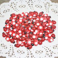 200Pcs Wooden ladybug stickers,Sponge stickers,Easter decoration,Home decoration,Kids toys.Promotion cheap 9*13mm (w02514)
