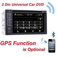 Free shipping! universal two 2 din In Dash car dvd GPS Optional,Audio Radio Stereo,bluetooth/vcd/cd/mp3/mp4/usb/sd/radio/4x50w